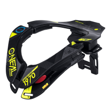 O'NEAL TRON NECKBRACE ASSAULT - BLACK/NEON YELLOW/BLUE