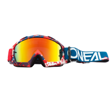 O'NEAL B10 GOGGLES PIXEL RED/BLUE - LENTE RADIUM
